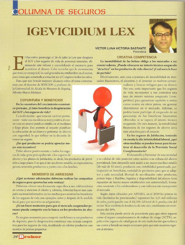 idecide - Víctor Luna Bastante para revista BROKER