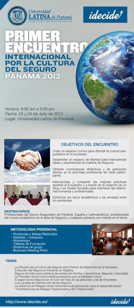 23 y 24 de Julio / 2013 Encuentro Internacional de Seguros en Panamá - Formación_Capacitación_Cursos_Agentes_Asesores_Seguros_Encuentro_Internacional_Seguros_Panamá
